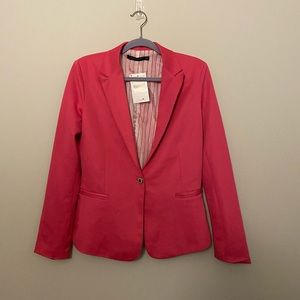 Zara Woman Pink Blazer Jacket Sz L NEW NWT